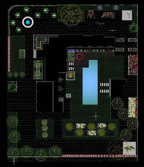 En paisajismo dise o planos en autocad for Casa minimalista dwg